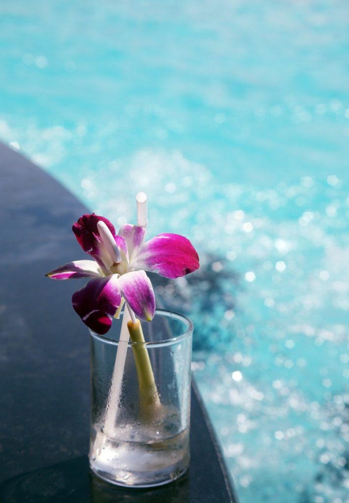 flowers, break, water