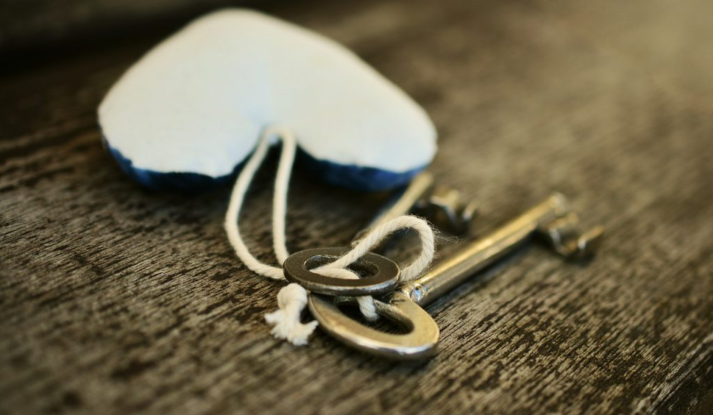 key, heart, love